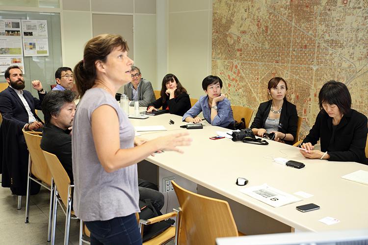21/09/2015. Imagen de la visita a la sede del Ayuntamiento de Barcelona
