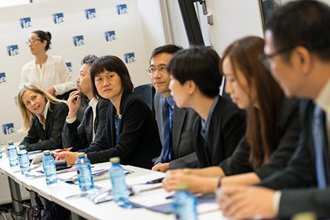 Los participantes en el Programa Futuros Líderes Chinos