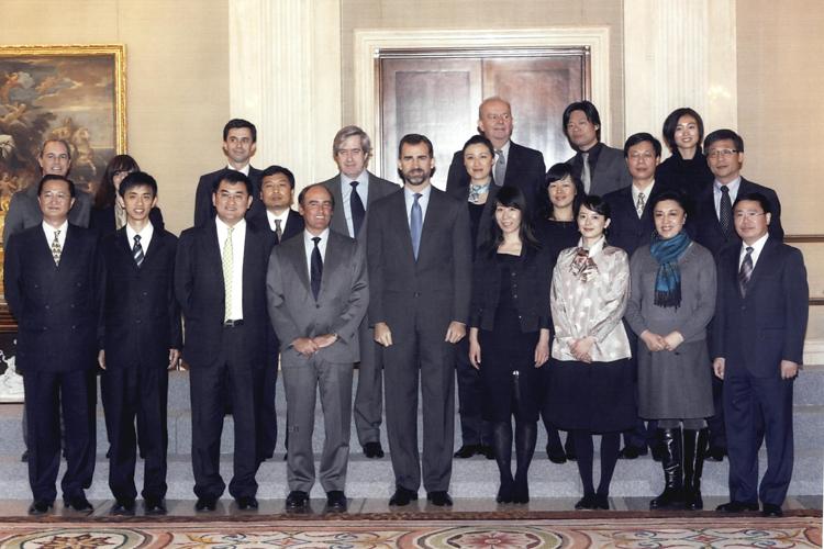 Audiencia con SAR el Príncipe de Asturias.