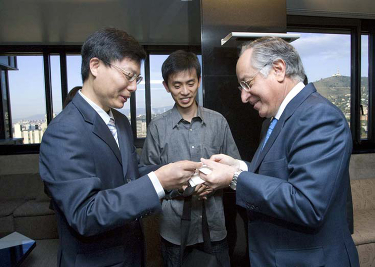 Visita de los Futuros Líderes Chinos a la Caixa.