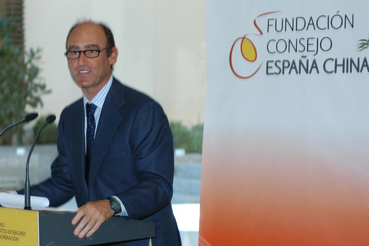 Imagen del discurso del presidente de la Fundación Consejo España China, Juan Lladó.