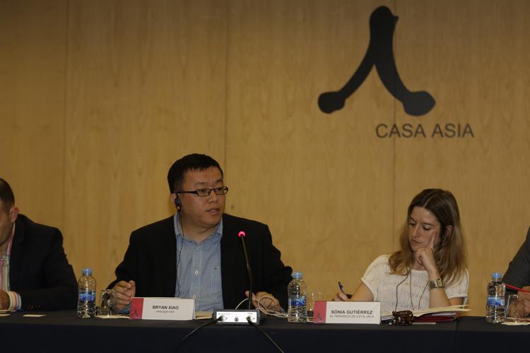 Xiao Yi durante su intervención.