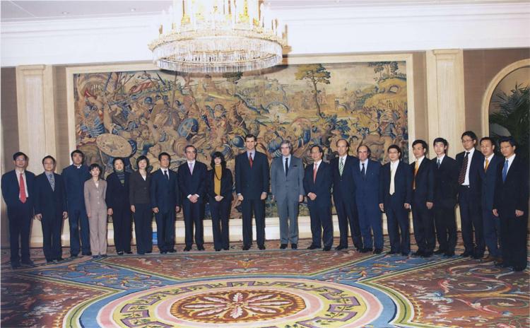 Imagen de la recepción con SAR el Príncipe de Asturias.