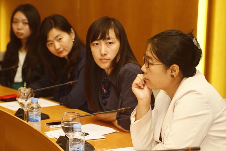 De izq. a dcha.: Tang Tang, Xiaoying Zhou, Pan Hongyang y Xue Jing.