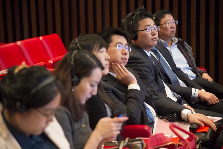 Los Futuros Líderes Chinos durante su visita a la Ciudad del Banco Santander.